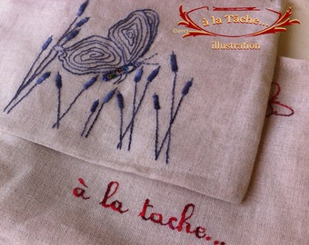Kit - Butterfly bag to embroider - ref. K045