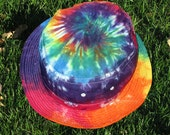 Tie-Dye Bucket Hat in Rainbow Swirls and other colors for Adults size small/medium
