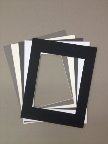 Package Of 5 18x24 Picture Mats With White Core 5 Neutral