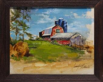 Mannings Farm - Oil Painting by Jennifer Brandon