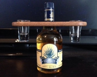 Hanging Shot Glass Holder With Pair of Shot Glasses Included