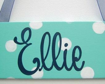Hand painted personalized kids room door sign