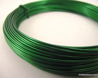 Green Aluminum Wire, 18 gauge, 45 foot coil