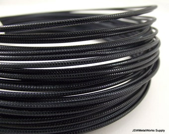 Textured Black Anodized Aluminum Wire, Crosshatch Pattern, 12 gauge, 45 foot coil