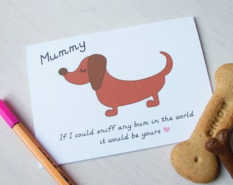 Funny Mummy Mother's Day Card from your Dog