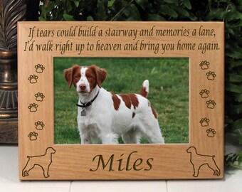 Brittany If Tears Poem Dog Memorial Frame