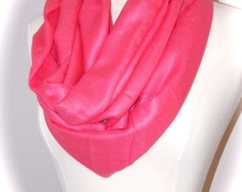Coral pashmina scarf/Christmas scarf/coral infinity scarf/pashmina infinity scarf