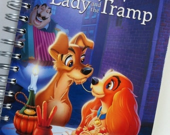 Lady and the Tramp Little Golden Book Recycled Journal