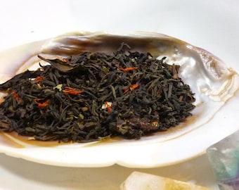 1 oz 'Hymn to Herne' Black Tea - lapsang and elderberry loose leaf tea