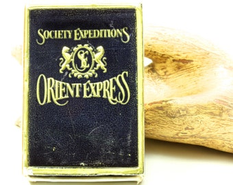 Society Expeditions Orient Express Train  - Vintage Box Of Matches Black and Gold