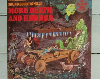 BBC sound effects LP - VOL 21. More Death And Horror - in Blood Red Vinyl
