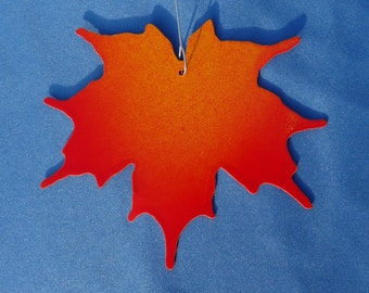 Metal Red Maple Leaf Ornament