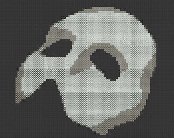 Phantom of the Opera Mask ( Traditional ) Cross Stitch Pattern ( Printable PDF ) - Immediate Download from Etsy