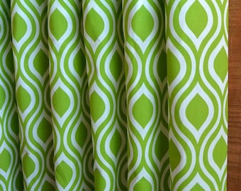 Window Treatments Curtains Drapery Panels 24W or 50W x 63, 84, 90, 96 or 108L Nicole Chartreuse shown