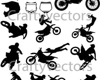 Motocross Vector File SVG