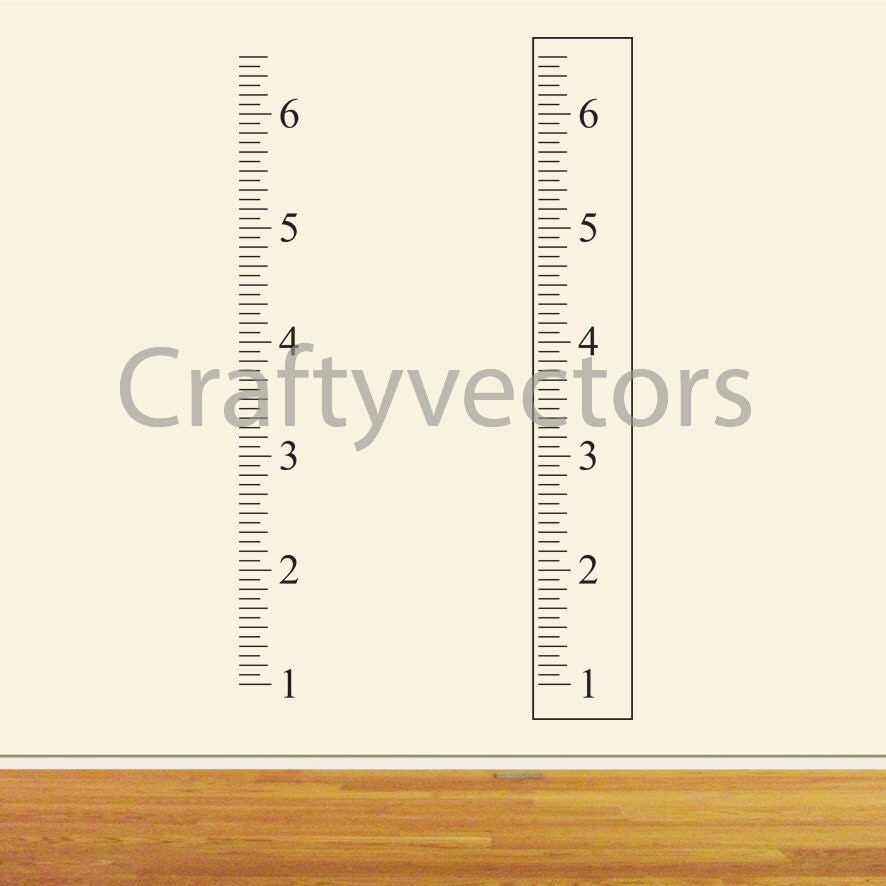 Ruler Growth Chart Vector Template Inches