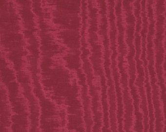 SCALAMANDRE MAGENTA Watermark MOIRE Fabric 10 Yards