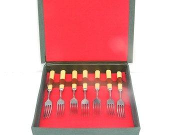 Soviet vintage forks Soviet flatware Soviet vintage cutlery Soviet fork set Fork gift set Soviet bakelite flatware Soviet bakelite forks