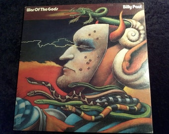 SALE Vintage 1973 Billy Paul War of the Gods Vinyl Record Album Soul Funk R&B Psychedelic ART