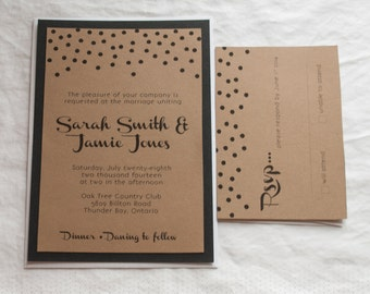 Dots Kraft Simple Wedding Invitation