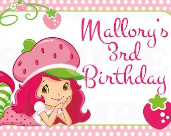Strawberry Shortcake personalized Birthday Printable sign