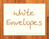 "A2 White Envelopes - 5.75"" x 4.375"" - Free shipping"