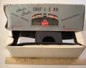 vintage wheeler dealer shuff L card batter op card shuffler