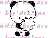 Cotton Candy Panda Digital Stamp