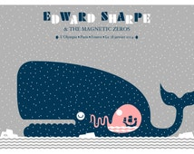 Edward Sharpe & the Magnetic Zeros - Silkscreened Gig poster Paris L'Olympia January 2014