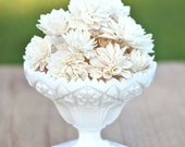 "10 3"" Cream Wooden Flowers, Rustic Wedding Decorations, Wedding Flowers, Wedding Bouquets"