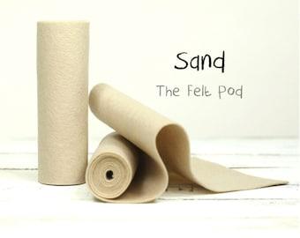 "100 Percent Wool Felt Roll - Wool Felt color SAND - 5"" X 36"" Wool Felt - 100% Wool Felt"