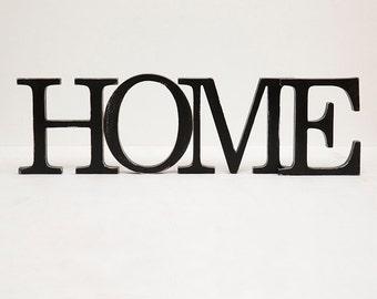 SALE % HOME distressed wood letters wooden decor vintage sign