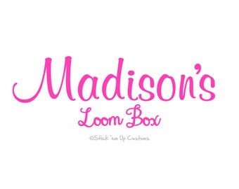 Custom Personalized  Loom Storage Box Case Decal Sticker