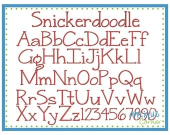 INSTANT DOWLOAD Snickerdoodle Serif Monogram Font pes and dst only digital design for embroidery machine by Applique Corner