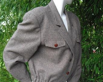 Vintage Pendleton Women's Wool Crop Jacket Size 12