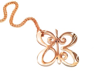 One Meaning Big Love Butterfly Necklace - all of our jewelry means I Love You