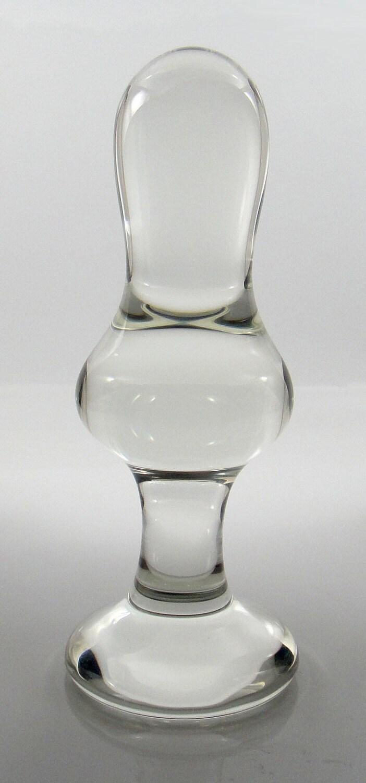 Hollow glass butt plug-4460