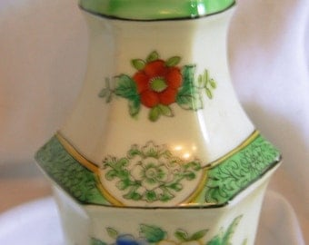 Hand Painted Muffineer Sugar Shaker -Signed NORITAKE Made in Japan - Vintage Circa 1940 - 1950s