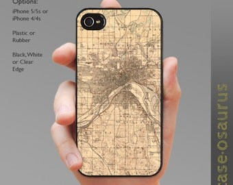 Vintage St. Paul iPhone Case for iPhone 6, iPhone 5/5s, or iPhone 4/4s, Samsung Galaxy S6, Galaxy S5, Galaxy S4, Galaxy S3