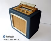 Portable Bluetooth Wireless Speaker -'Beachtooth'- Vintage Antique Retro Radio -  Battery and Mains - For Iphone Android Smartphone - Travel