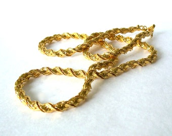 Vintage Necklace Napier Twisted Rope Chain Pat. 4.774.743 gold tone