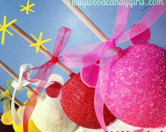 Mouse Head  Custom Candy, Caramel or Chocolate Glitter GLAMapples, Apples Personalized Party Favors GLAMapples!