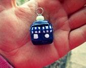 Cute Tardis Charm. Doctor Who Tardis. Made to order