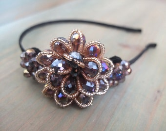 Peacock Inspired Headband / Bridal Headband / Great Gatsby Headband