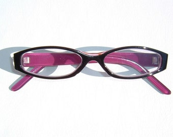 Raspberry & Deep Rosewood color Decorative Eyewear Reading Glasses Diopter 2.50