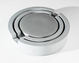 Gray Concrete Nesting Trivet Set