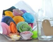 100 Colorful Paper Flowers - Paper Flowers- Misfit Flowers