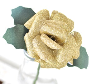 Gold Paper Flower-Christmas Flower