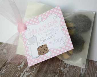Milk and Cookies Favor Tags OR Stickers - Set of 12