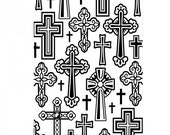 CHRISTIAN CROSSES in  VARIOUS STYLEs -  Embossing folder - A2 SiZE - **Darice- NeW ReLEASE !!